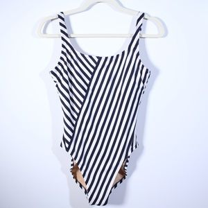 J.Crew Striped Scoop Back One Piece Swimsuit 8